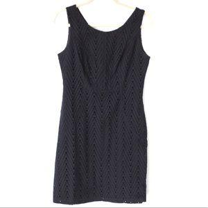 The Limited Size 8 Black Eyelet Sleeveless Dress